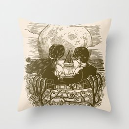 Love and Death At the Beach Throw Pillow