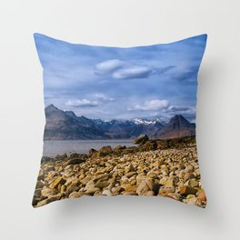 The Cuillin from Elgol, Isle of Skye Throw Pillow