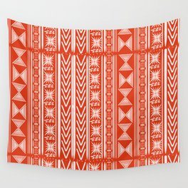 Boho Mud Cloth (Coral) Wall Tapestry