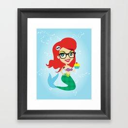 Hipster Mermaid Framed Art Print