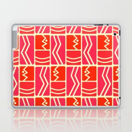 Pink and red rectangles Laptop & iPad Skin