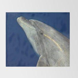 Bottlenose dolphin portrait Throw Blanket
