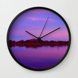 Pinks of Lake Kununurra Wall Clock