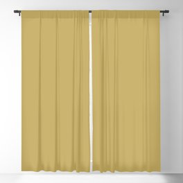 Cello Mood ~ Old Gold Blackout Curtain