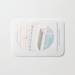 Haruki Murakami's Colorless Tsukuru Tazaki and His Years of Pilgrimage Book Cover Bath Mat