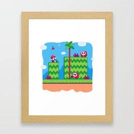 Tiny Worlds - Super Mario Bros. 2: Mario Framed Art Print