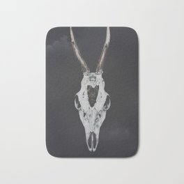 Roe Deer Skull with Death Hawk Moth Bath Mat