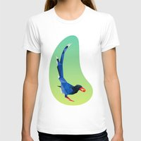 low poly T-shirts featuring Low-poly blue bird by fortyfive