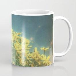 Yellow Vintage Daisy - Margaritas Amarillas Vintage Coffee Mug