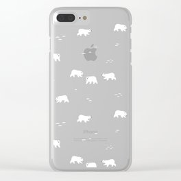Polar Bears Pattern Clear iPhone Case