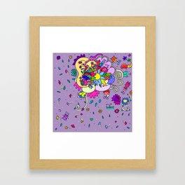 bugging flowers! Framed Art Print