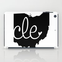 cleveland iPad Cases featuring Love Cleveland by anastasia5