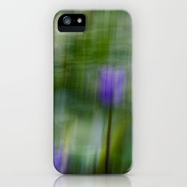 Tropical Impressionism (Purple Water Lily) iPhone Case