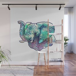 Pastel Abstract Elephant Wall Mural