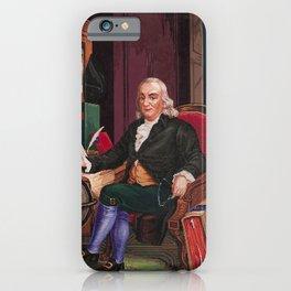Benjamin Franklin Embroidery Pattern Sheet - Circa 1850 iPhone Case