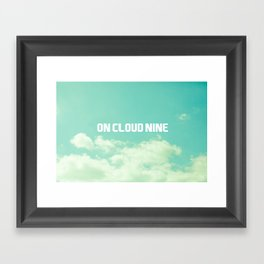 On Cloud Nine  Framed Art Print