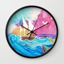 Sweet Sailboat Dreams Wall Clock