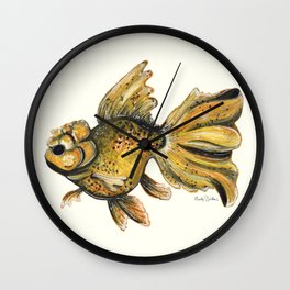Goldfish On A Mission Wall Clock