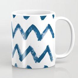 Painted waves pattern in wonderful classic blue colors Coffee Mug