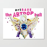 artrave Canvas Prints featuring ARTPOP artRAVE by KS Art