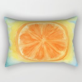 Juicy Orange Rectangular Pillow