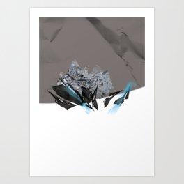 Blue Symbiote Art Print