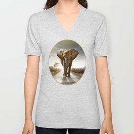 The Elephant Unisex V-Neck