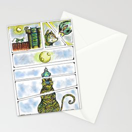 night meeting Stationery Cards