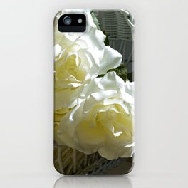 Roses in the White Light iPhone Case