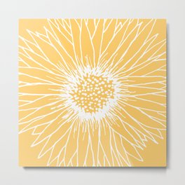 Minimalist Sunflower Metal Print