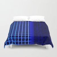 led zeppelin Duvet Covers featuring led blue by Fringed violet