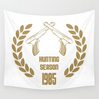 nintendo Wall Tapestries featuring THE HUNTING SEASON 1985 - NINTENDO NES ZAPPER by The Fugu Project