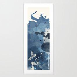 Blue Watercolor   Success Art Print