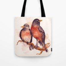 Two Robins Tote Bag