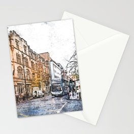 Manchester city watercolor #manchester Stationery Cards
