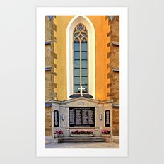 World War 1 & 2 memorial | architectural photography Art Print