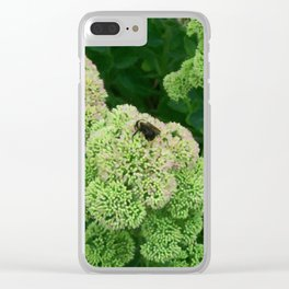 Floral Print 022 Clear iPhone Case