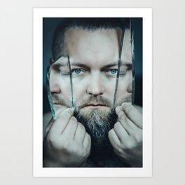 3 faced Art Print