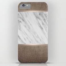 Manly Carrara Italian Marble iPhone 6 Plus Slim Case