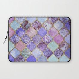 Royal Purple, Mauve & Indigo Decorative Moroccan Tile Pattern Laptop Sleeve