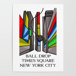 Ball Drop Times Square Poster