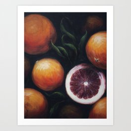 Blood Oranges Art Print
