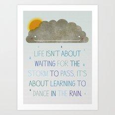 Dance in the Rain Art Print