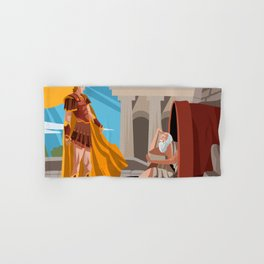 diogenes the cynic greek philosopher and alexander the great Hand & Bath Towel