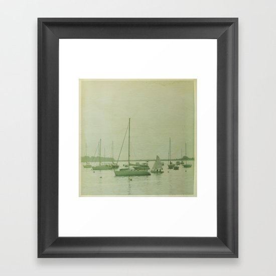 Searching For The Anchor Framed Art Print