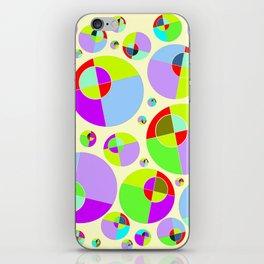 Bubble yellow & purple 10 iPhone Skin