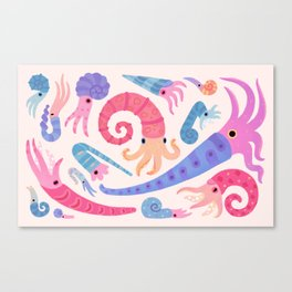 Ancient cephalopods Canvas Print