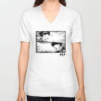 akira V-neck T-shirts featuring Akira! by Demonigote