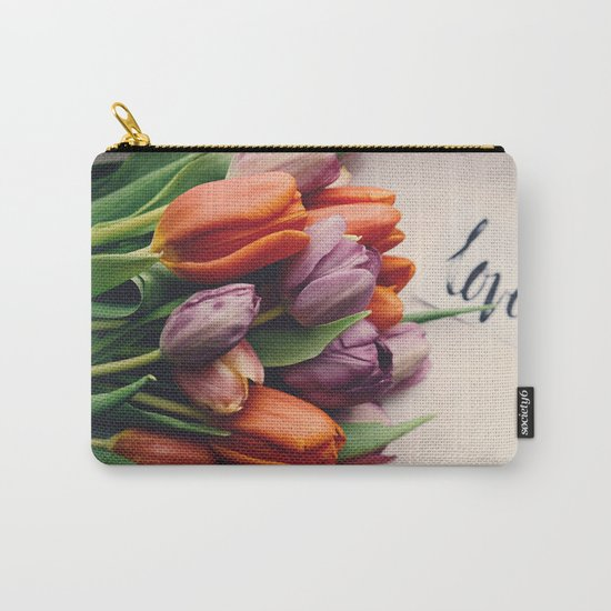 Love and Tulips Carry-All Pouch
