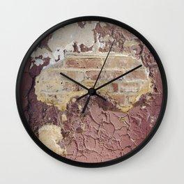 Brick Reveal Detail Wall Clock
